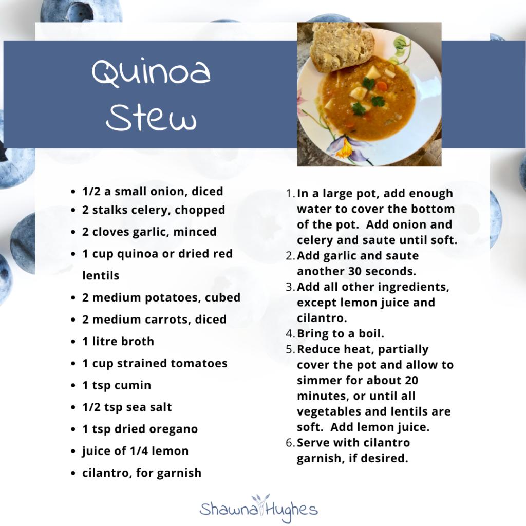 simple quinoa lentil stew